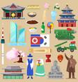 korea korean traditional culture symbol vector image