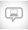 Laptop grey message icon vector image vector image