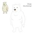 Learn to draw animal polar bear vector image