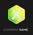letter x logo symbol on colorful hexagonal vector image