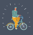 man on his bike outdoors vector image vector image