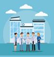 medical team at hospital vector image vector image