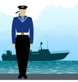 Military Uniform Navy sailor-2 vector image vector image