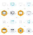 office icon 4 design computer presentation vector image vector image