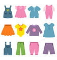 pants dresses and other different clothes vector image vector image