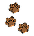 paw mascot isolated icon vector image