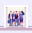 people elevator lift persons standing woman man vector image vector image