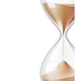 realistic hourglass sandglass 3d mock up vector image vector image
