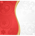 red and white floral background vector image vector image