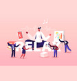 relax concept female character office worker vector image