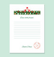 santa claus letter decorative blank template a4 vector image vector image