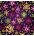 Seamless background with colorful snowflakes vector image vector image
