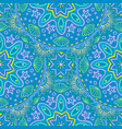 seamless pattern with beach mandala ethnic vector image
