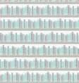Seamless pattern with books on a bookshelf vector image