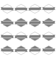 Set hexagonal emblem vector image vector image