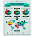 set infographics elements vector image vector image
