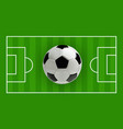 soccer or football 3d ball on green field vector image vector image