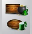 st patrick s day symbol board vector image vector image