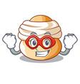 super hero semla sweet cream easter buns character vector image