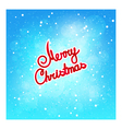 Text Merry Christmas on Winter Background vector image