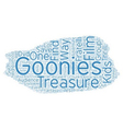 The Goonies DVD Review text background wordcloud vector image vector image