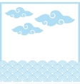 traditional chinese clouds vector image