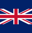 union jack flag vector image