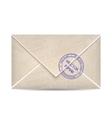 vintage envelope vector image vector image