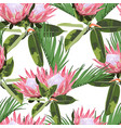 watercolor style exotic tropical leaves pattern vector image vector image