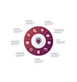 web hosting infographic 10 steps circle design vector image vector image