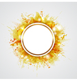 Yellow abstract shining round background vector image vector image