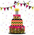 big cake isolated on white vector image