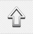 arrow 3d icon raised symbol vector image