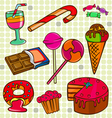 sweet set vector image