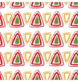 abstract pattern for design red triangles vector image vector image