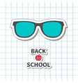 Back to school Glasses icon on paper sheet vector image