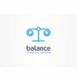 balance justice creative symbol concept lawyer vector image