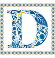 Blue letter D vector image vector image