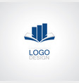book business logo vector image