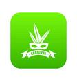 brazil carnival icon green vector image vector image