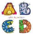 cat alphabet a b c d vector image