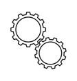 cogwheels white icons vector image