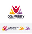 community logo design vector image