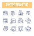 content marketing doodle icons vector image