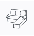 Corner sofa icon Comfortable couch sign vector image