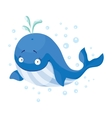 Cute whales isolated T-Shirt design for children vector image