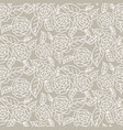drawn line rose wedding seamless pattern vector image