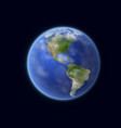 earth planet globe space and astronomy vector image
