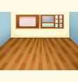 empty interior classroom scene vector image vector image