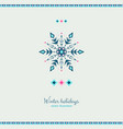 ethnic style grunge style snowflake design card vector image